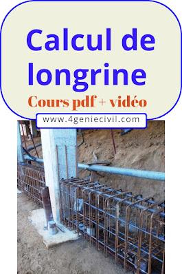 Calcul des longrines pdf et vidéo