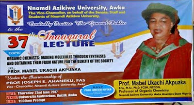UNIZIK Invitation to the 37th Inaugural Lecture