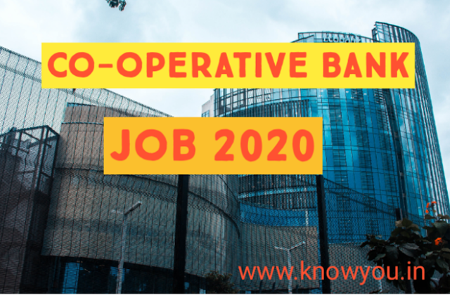 Co-operative Bank Job, Latest Co-operative Bank Job 2020, Latest Bank Job 2020.