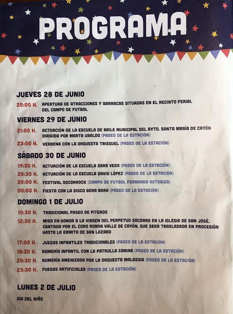 Fiestas del Perpetuo Socorro en Sarón  2018