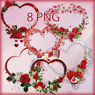 Frame PNG Corações