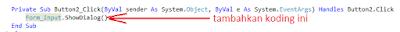 3 - Tutorial Vb.Net - Cara membuat Form Simpan(Input) Ke Database Mysql Memakai Connector Odbc