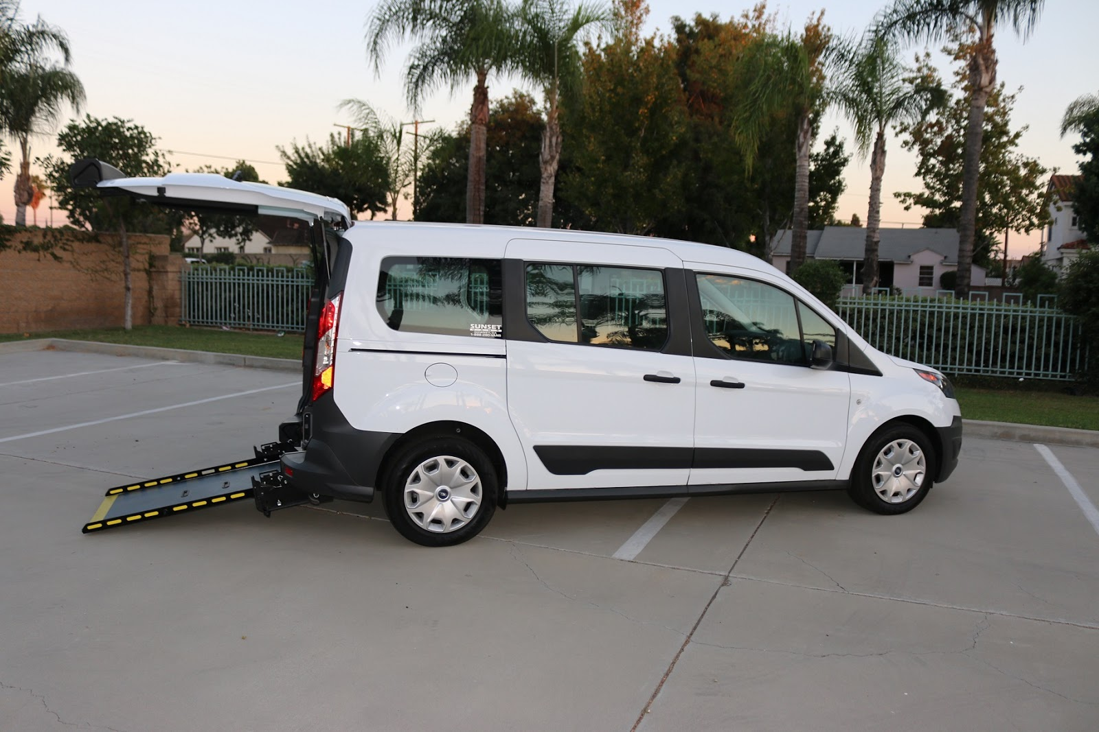 7ef9705b2f Sunset Vans  Ford Transit Connect Rear Entry Ramp