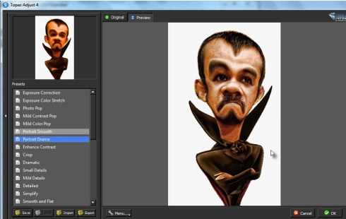 Tutorial Membuat Karikatur dengan Photoshop dan Smudge Painting