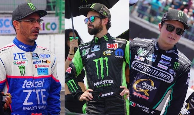 LOS ATLETAS MONSTER ENERGY HUGO OLIVERAS, SANTIAGO TOVAR Y RUBÉN PARDO CORREN LA PENÚLTIMA CARRERA VIRTUAL DE NASCAR PEAK MÉXICO IRACING SERIES
