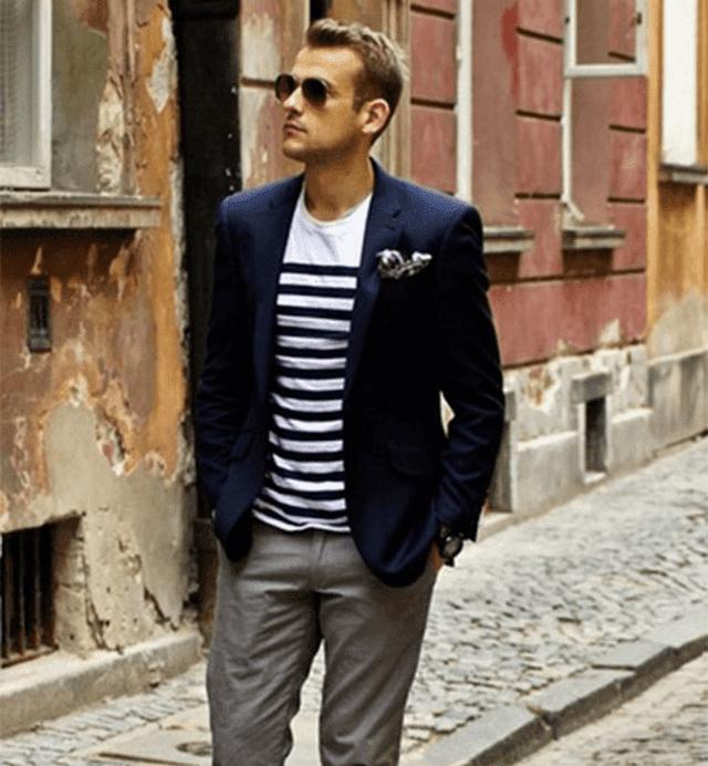 Cách phối áo vest nam mặc với áo thun cực phong cách