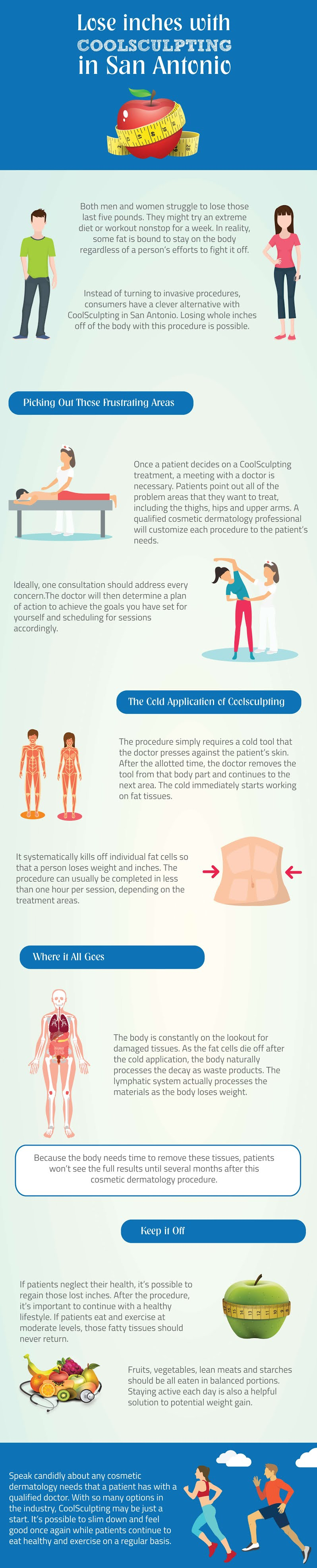 Lose Inches With Coolsculpting in San Antonio #infographic
