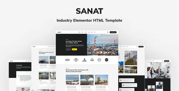 Best Industry Elementor HTML Template