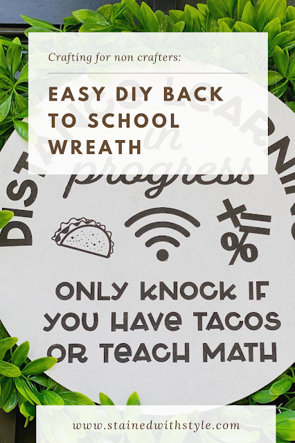 Easy DIY back to school wreath