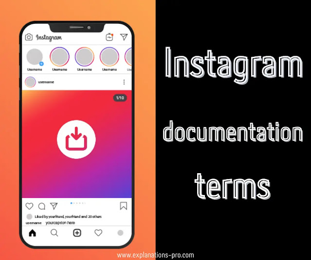 Instagram documentation terms