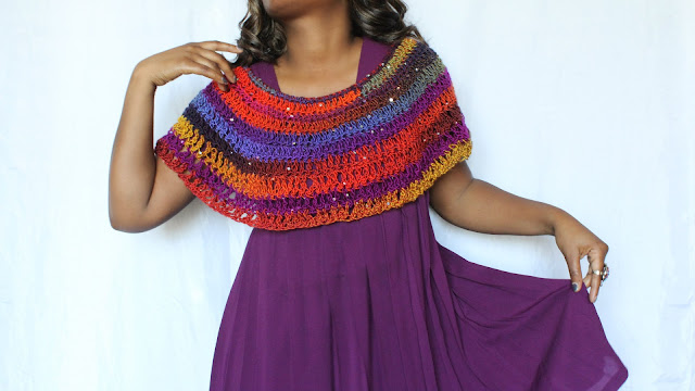 DIY// Free Crochet Pattern// One Skein Crochet Shawl.