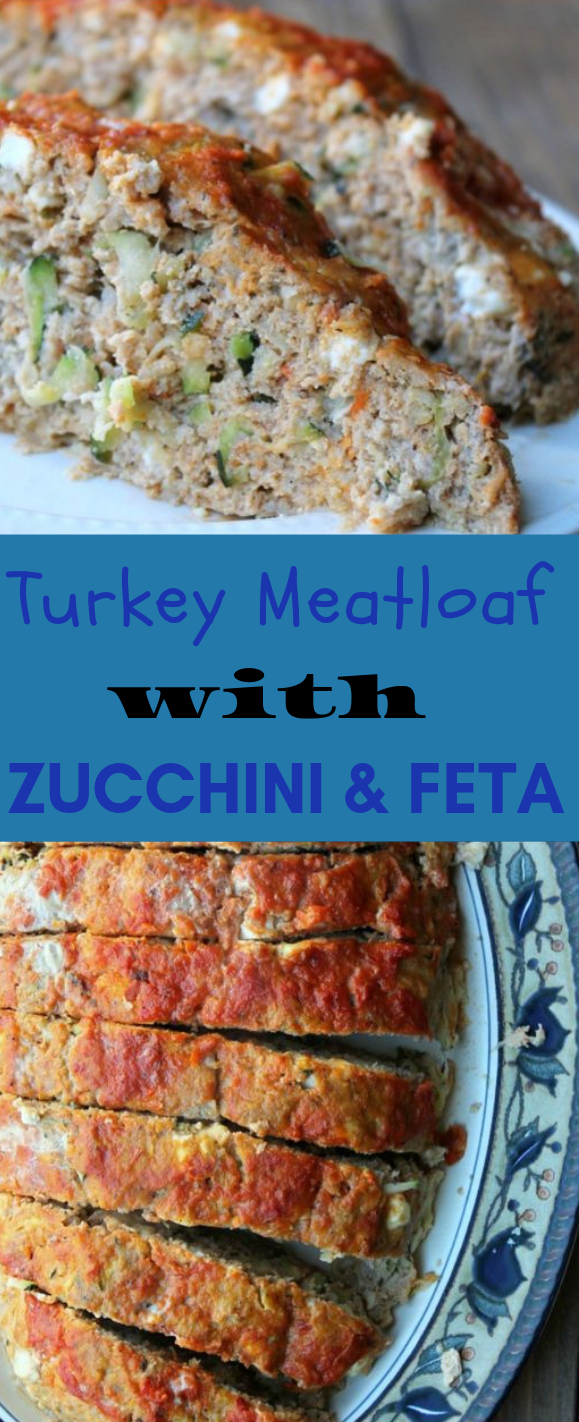 Turkey Meatloaf with Zucchini and Feta #healthydinner #eathing
