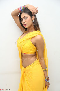 Nishigandha in Yellow backless Strapless Choli and Half Saree Spicy Pics 041.JPG