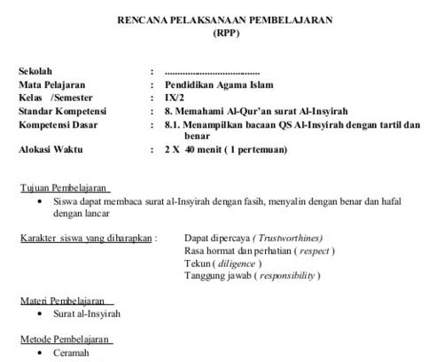 Silabus Pai Smp Mts Kelas 9 Kurikulum 2013 Revisi Semester