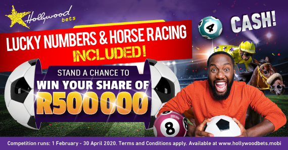 Win Your share of R500 000 in Daily Cash Prizes!