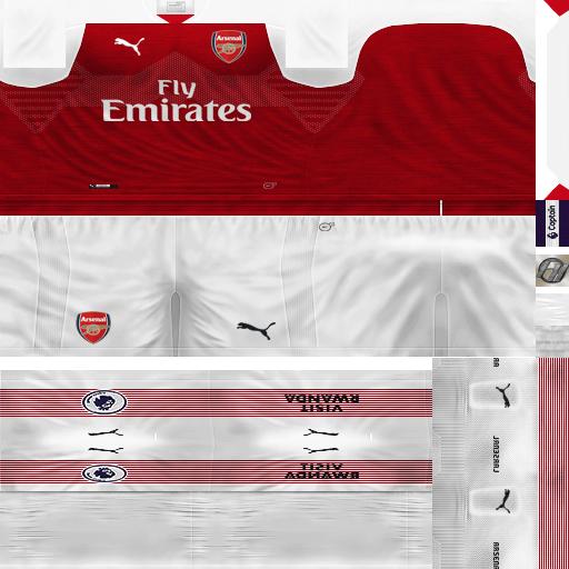 reputable site 00493 d52fd PES 6 Kits Arsenal FC Season 2018/2019 by FacaA/Ngel - PES 6 ...