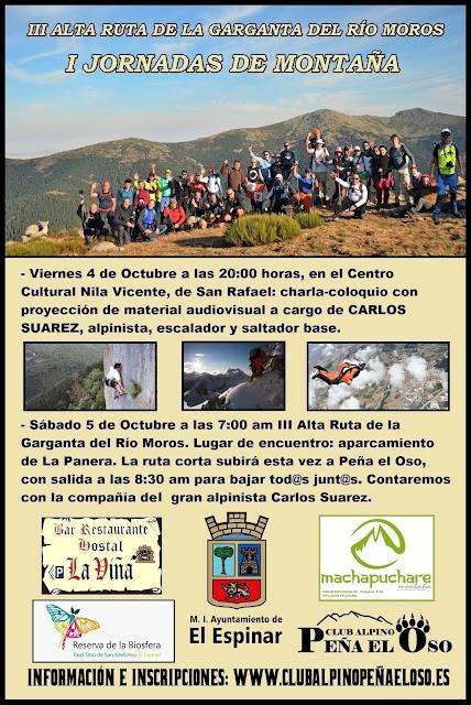 El Club Alpino Peña el Oso celebra las I Jornadas de Montaña de El Espinar
