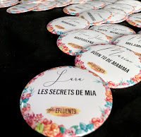 badge nominatif Les secrets de Mia