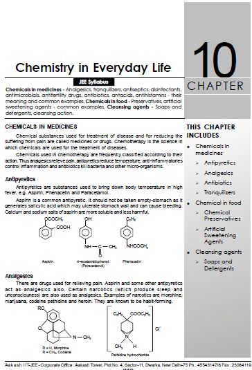 Chemistry Chapterwise Notes (Chemistry in Everyday Life) : For JEE and NEET Exam PDF Book