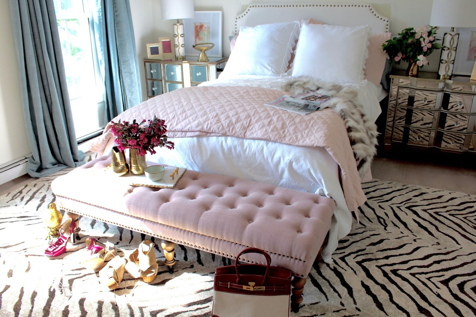 pink white and gold bedroom room reveal pink and gold feminine bedroom my guest room 19490