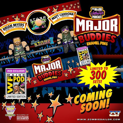 San Diego Comic-Con 2020 Exclusive S.T.O.M.P. in Paradise Matt Cardona & Brian Myers Major Buddies Enamel Pin Set by The Major Wrestling Figure Podcast x Zombie Sailor Toys