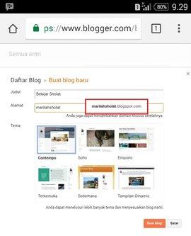 Cara Membuat Blog Lewat HP Mudah dan Terbukti [ 3 langkah ]