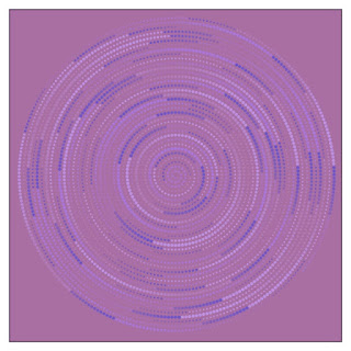 An example image of Archimedes's spiral in blue and purple.