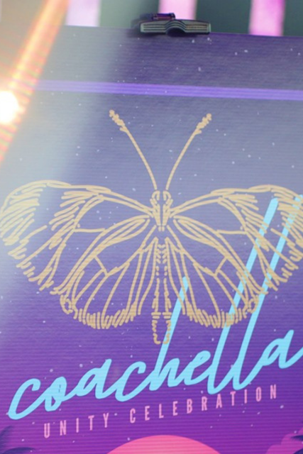 Butterfly Coachella Party Curitan Aqalili