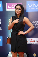 Actress Shraddha Srinath Stills in Black Short Dress at SIIMA Short Film Awards 2017 .COM 0018.JPG