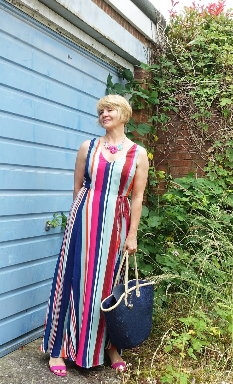 Get s cool boho vibe with a colourful striped maxi dress, ideal for long balmy summer nights. Is This Mutton, the blog for the sassy over-45s, has found a great floaty dress from Monsoon.