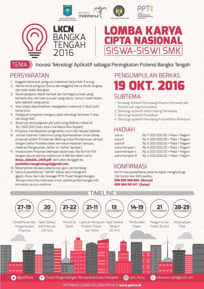 Lomba Karya Cipta Nasional(LKCN) Siswa SMK/MAK 2016