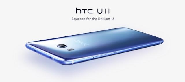 Harga HP HTC U11 Tahun 2017 Lengkap Dengan Spesifikasi dan Review, RAM 4 GB, Layar 5.5 Inchi, Finger Print Sensor