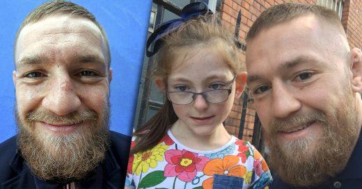 Conor McGregor se tomó una selfie con una niña