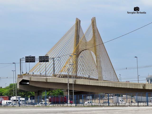 Vista panorâmica da Ponte Estaiada Governador Orestes Quércia - Ponte Estaiadinha - Bom Retiro/Santana - São Paulo