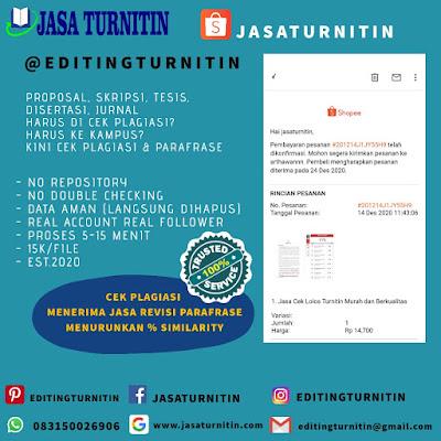 Jasa Cek Turnitin Profesional Di Sulawesi Tengah