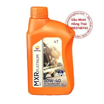 Dầu nhớt Repsol MXR Platinum 10W40 SN/MA2