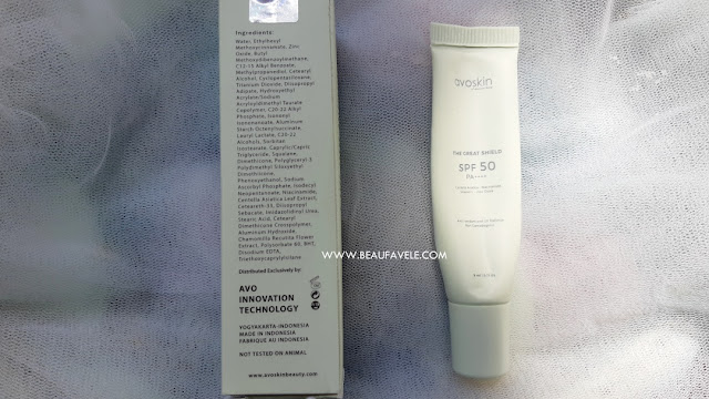 Kandungan utama Avoskin Sunscreen