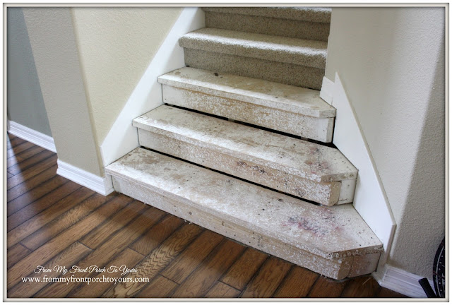 Stair-Renovation-Ripping Carpet Off-From My Front Porch To Yours