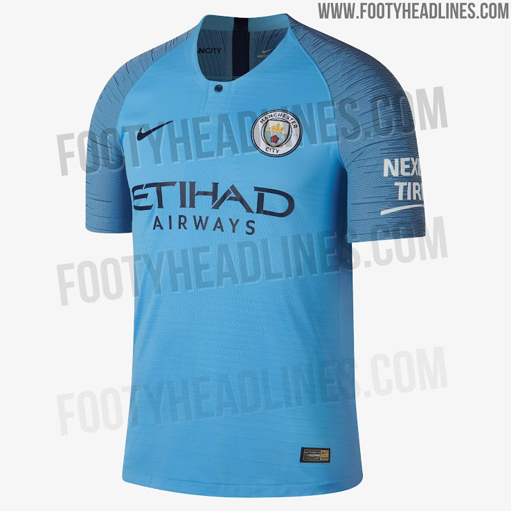 ba93ea80d72 Manchester City 18-19 Home Kit Released - Footy Headlines