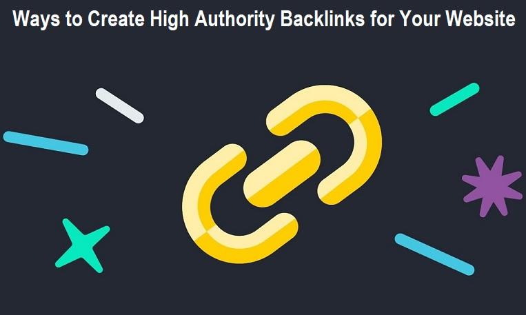 Create High Authority Backlinks