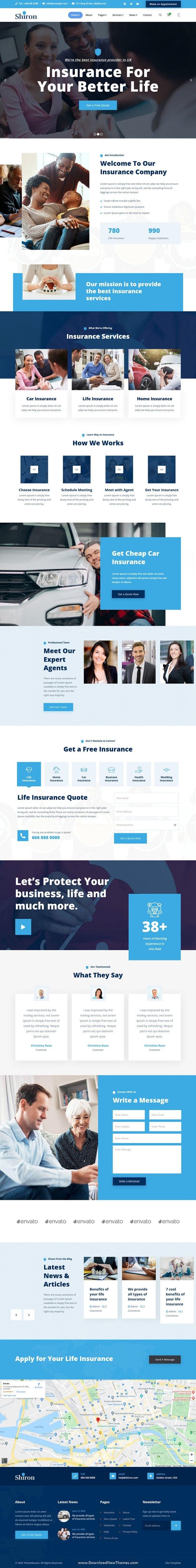 Insurance Finance HTML Template