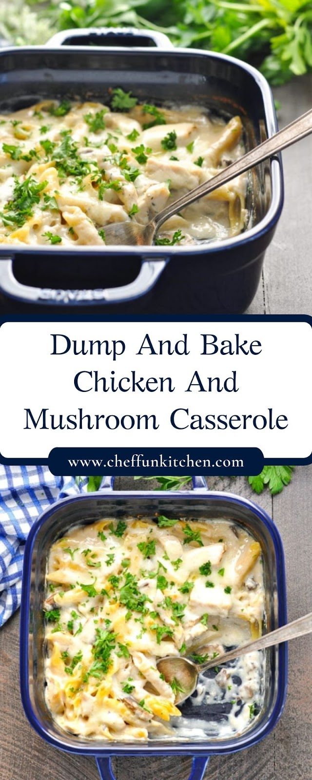 Dump And Bake Chicken And Mushroom Casserole
