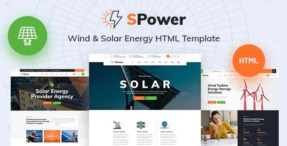 Best Wind & Solar Energy HTML5 Template