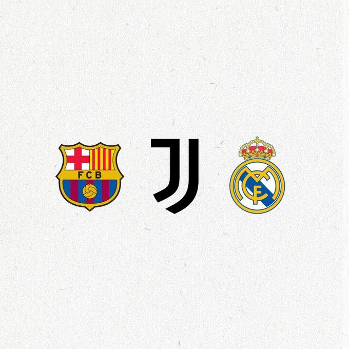بيان من برشلونة ويوفنتوس وريال مدريد حول دوري السوبر الأوروبي !