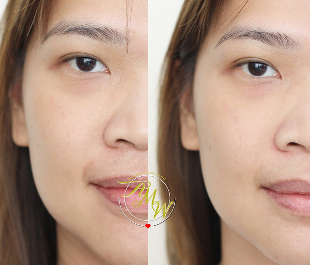 before and after photo of Shiseido Ibuki Smart Filtering Smoother