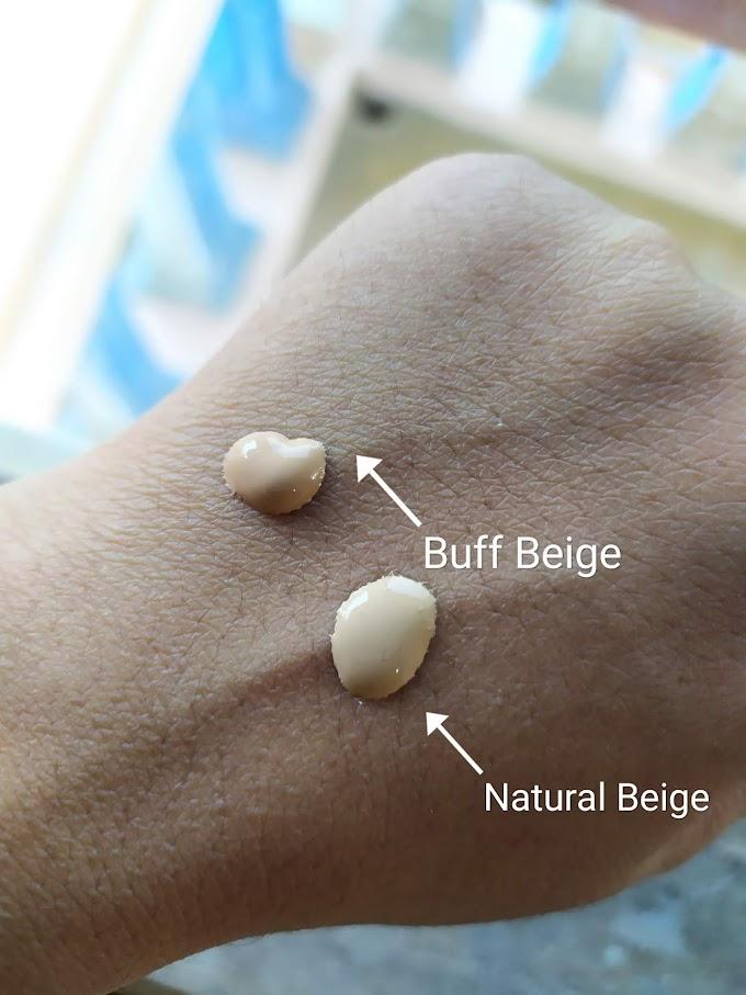Perbedaan Shade Natural Beige dan Buff Beige Maybelline Foundation