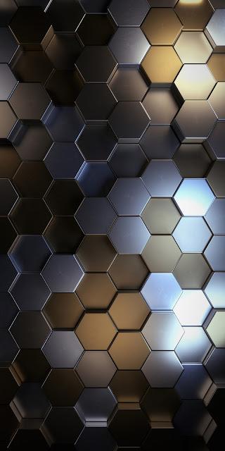 Wallpaper 3D metal polygons free wallpaper