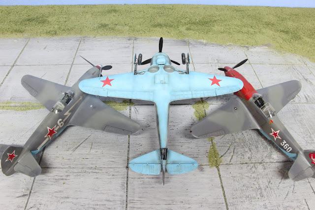 Maquette du  Lavochkin La-5 d'Eduard au 1/48.