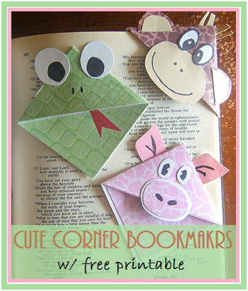 image regarding Free Printable Corner Bookmarks referred to as Residing and Studying at Household: Lovable Corner Bookmarks with Totally free