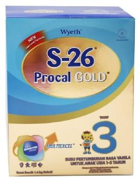 Merk Susu Formula Terbaik Untuk Bayi 1 Tahun Keatas  S-26 Procal Gold